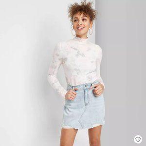 Women's High-Rise Denim Mini Skirt - Wild Fable™ 8